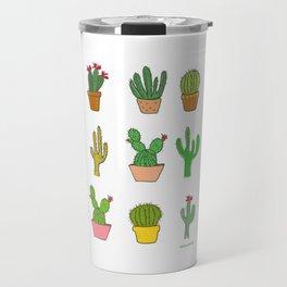 Colorful cactus Travel Mug