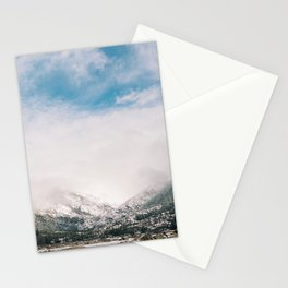 Peaceful Winter Day at Pinecrest Lake Stationery Cards