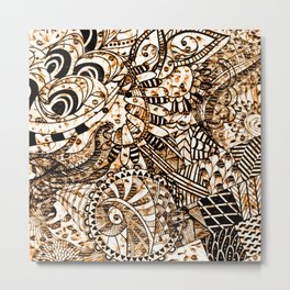 Zentangle Mix 1216 Metal Print