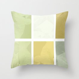 Pale Yellow Poinsettia 1 Abstract Rectangles 1 Throw Pillow