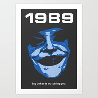 1989 Art Prints featuring 1989 by KNJ-
