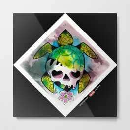 SeaturtleSkull Metal Print