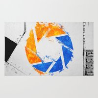 aperture Area & Throw Rugs featuring Aperture Vandal by Toronto Sol