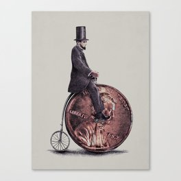 Penny Farthing (grey option) Canvas Print