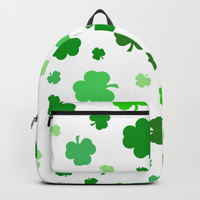Green Shamrock Pattern Rucksack