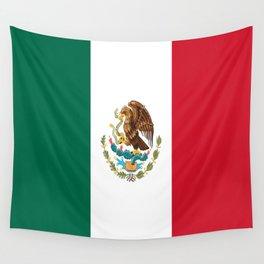 Flag of mexico- mexico,mexico city,mexicano,mexicana,latine,peso,spain,Guadalajara,Monterrey Wall Tapestry