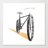 cycle Canvas Prints featuring Cycle by foureighteen