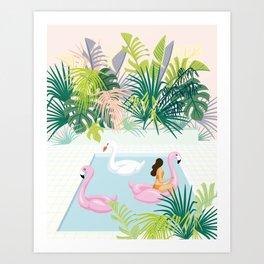 relaxing at resort Art Print