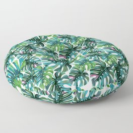 Elephant Tropical Leaves Pattern Floor Pillow