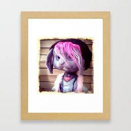 Nina the bunny Framed Art Print
