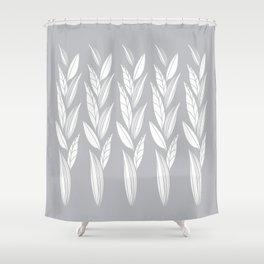 Eternity in Silver Leaf Shower Curtain