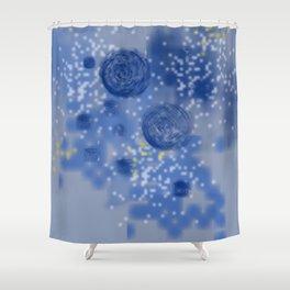 Sky galaxy   Classic blue pattern Shower Curtain