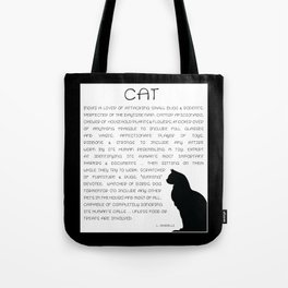 Cat Defined Tote Bag