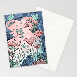 Ocean of Flowers Stationery Cards