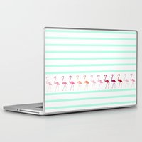 flamingos Laptop & iPad Skins featuring FLAmINGOs by Monika Strigel