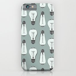Lightbulb Moment in Aqua iPhone Case
