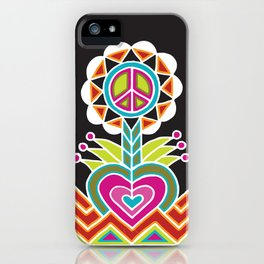LOVE grows peace plant iPhone Case