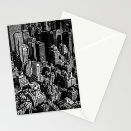 Manhattan Rooftop View Stationery Cards