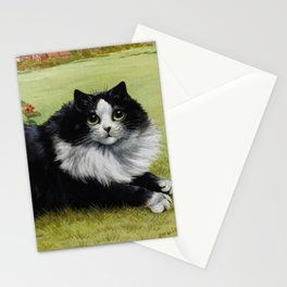 Black & White Kitty - Louis Wain Cats Stationery Cards
