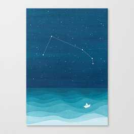 Aries zodiac constellation Canvas Print