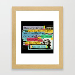 Katharine Hepburn Said These Words (Just Not in This Order) Framed Art Print