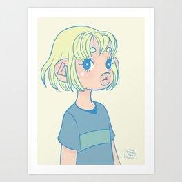 Green Gal Art Print
