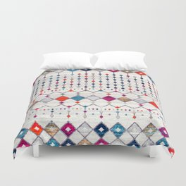 -A14- Lovely Colored Traditional Moroccan Texture Duvet Cover
