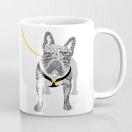 Typographic French Bulldog - Black and White Coffee Mug