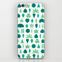 Leaf Shapes and Arrangements Pattern Bright iPhone Skin