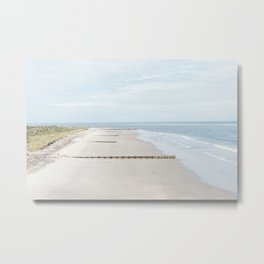 Folly Beach in Charleston, South Carolina Metal Print