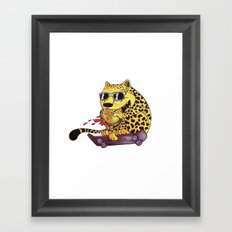Skating Cheetah Framed Art Print