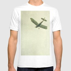 Fly With Me MEDIUM White Mens Fitted Tee