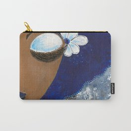 Sassy Girl Royal Blue and White Carry-All Pouch