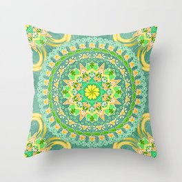 Peace Blossoms Throw Pillow