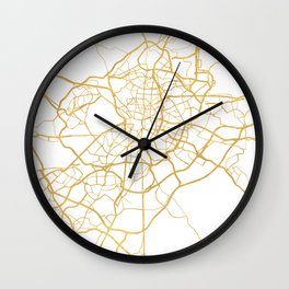 MADRID SPAIN CITY STREET MAP ART Wall Clock