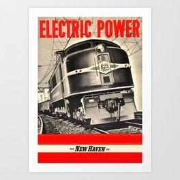 Electric Power Art Print