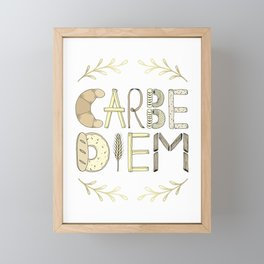 Carbe Diem Framed Mini Art Print