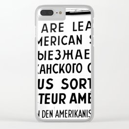 Checkpoint Charlie Clear iPhone Case