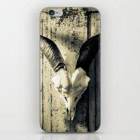 animal skull iPhone & iPod Skins featuring Animal Skull I (Duotone) by Digital.Soapbox