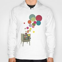 tv Hoodies featuring Colour Television by Cassia Beck