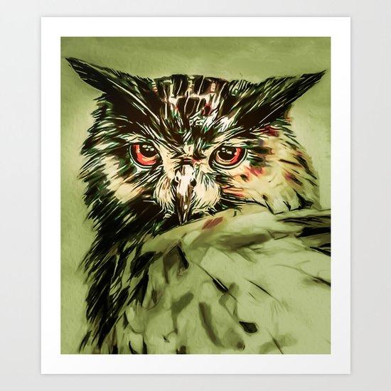 My Owl - Owliver Art Print