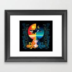 Dream - Sea Day & Night Framed Art Print
