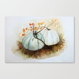 Pumpkin Patch - Watercolor Canvas Print