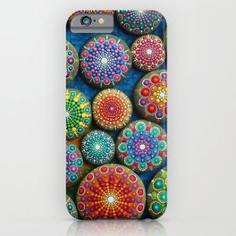 Mandala Stone Love Heart iPhone Case