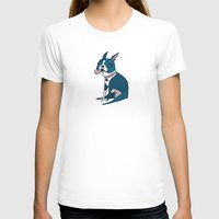 terrier T-shirts featuring Boston Terrier by breakfastjones
