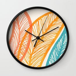 Tropical Flora - Retro Palette Wall Clock