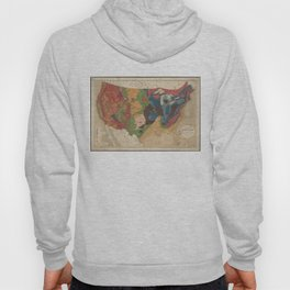 Vintage United States Geological Map (1872) Hoody