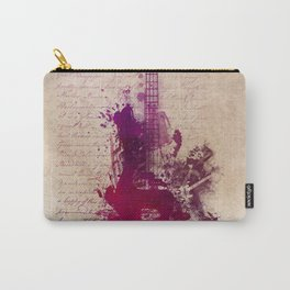 purple guitar Carry-All Pouch