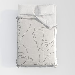Crowd Portrait Comforters
