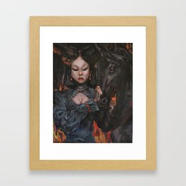 Dark Queen Framed Art Print